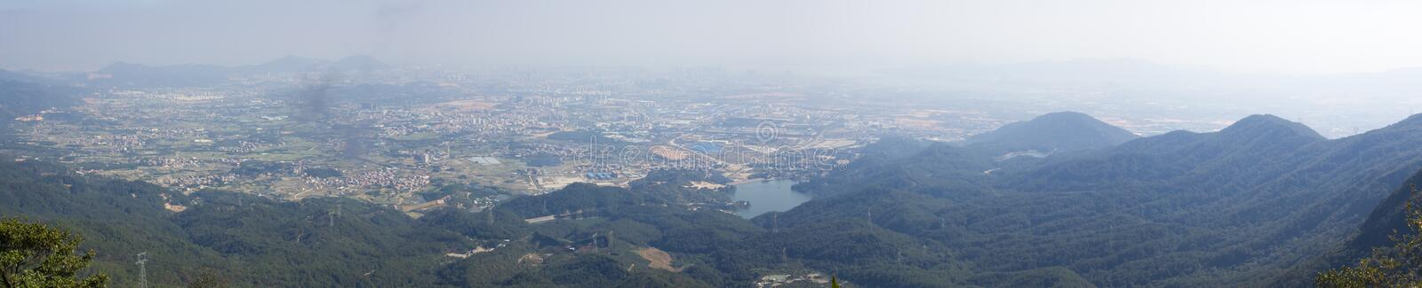 Overlooking of XiaMen HaiCang District. This is a picture of XiaMen HaiCang District was taken in XiaMen TianZhu Mountains,China stock images
