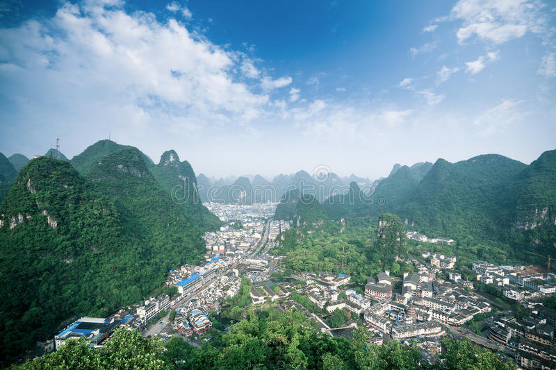 Download Overlooking The Yangshuo County,China Stock Photo - Image: 24551674