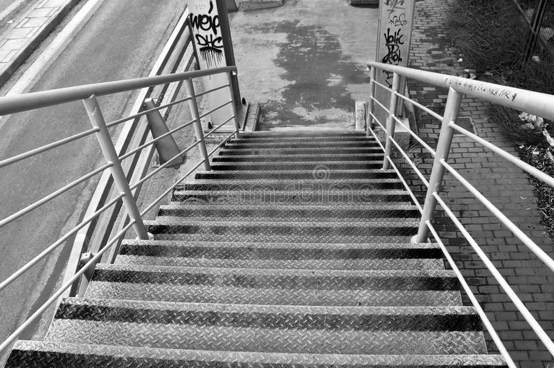 Overpass bridge stairs stock images