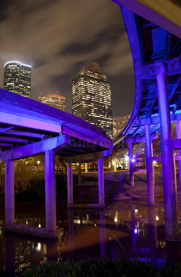 Download Overpass And Downtown Houston Royalty Free Stock Images - Image: 23150669