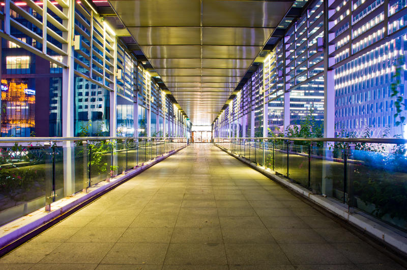 Overpass at Night of Guangzhou stock photography