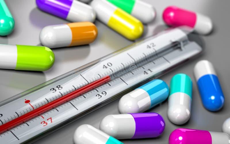 Overprescription, uso antibiótico excessivo ilustração stock