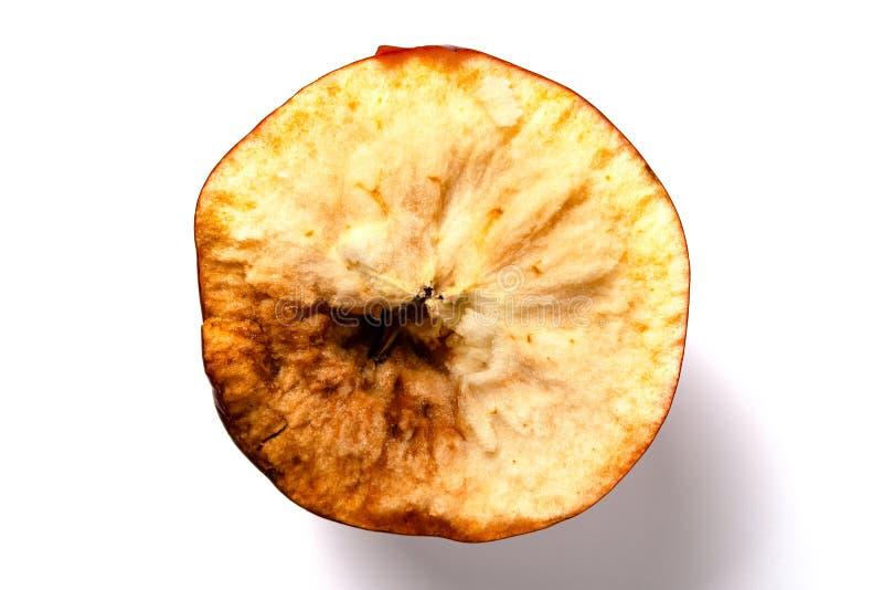 Overripe τμήμα μήλων άσπρου υποβάθρου στοκ φωτογραφία με δικαίωμα ελεύθερης χρήσης