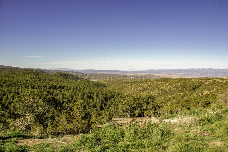 Overseeing New Mexico`s Wilderness. A view of the wide expanses of the New Mexico countryside royalty free stock photos
