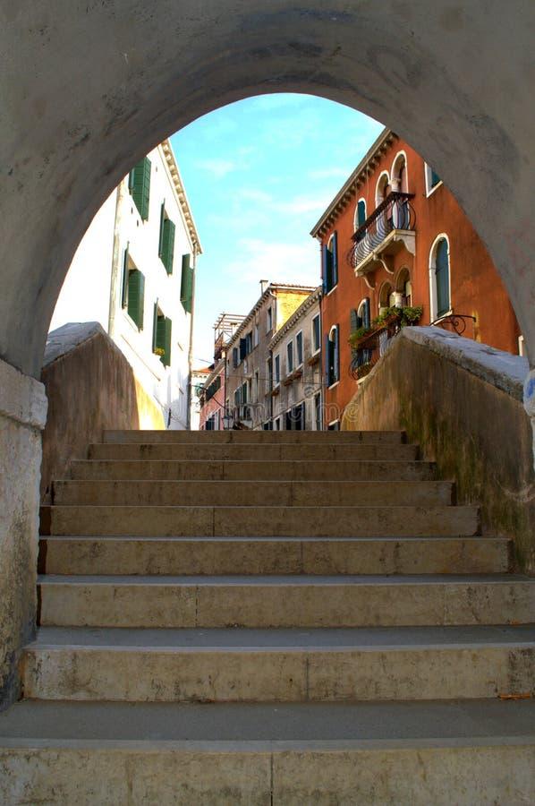 Overspannen trappassage, Venetië royalty-vrije stock foto's
