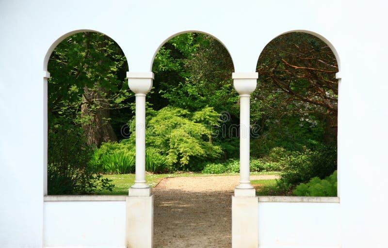 Overspannen vensters royalty-vrije stock afbeelding