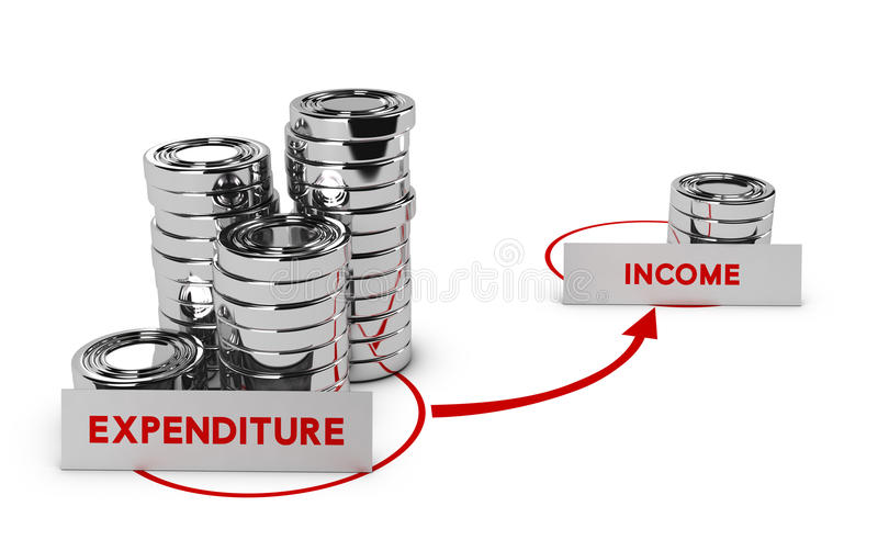 overspending ilustração do vetor