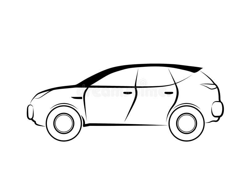 Oversteekplaats - het geïsoleerde pictogram van de overzichtsauto vector illustratie