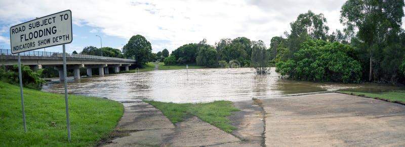Overstromend Panorama stock afbeeldingen