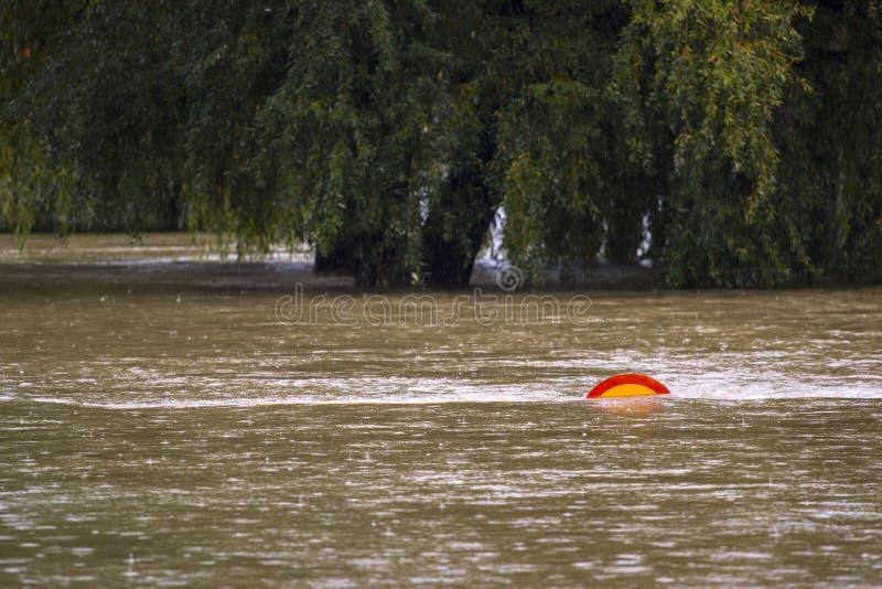 Overstromende rivier royalty-vrije stock fotografie