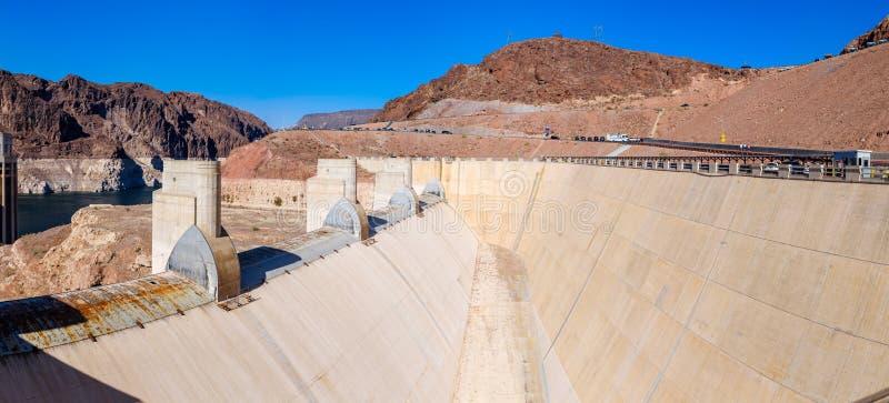 Overstromingskanaal bij Hoover-Dam stock foto