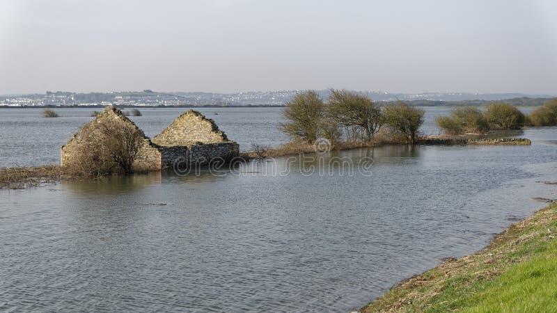Overstroomd Horsey-Eiland royalty-vrije stock afbeelding