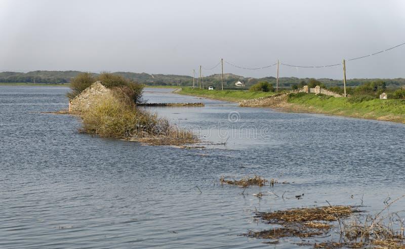 Overstroomd Horsey-Eiland royalty-vrije stock afbeeldingen