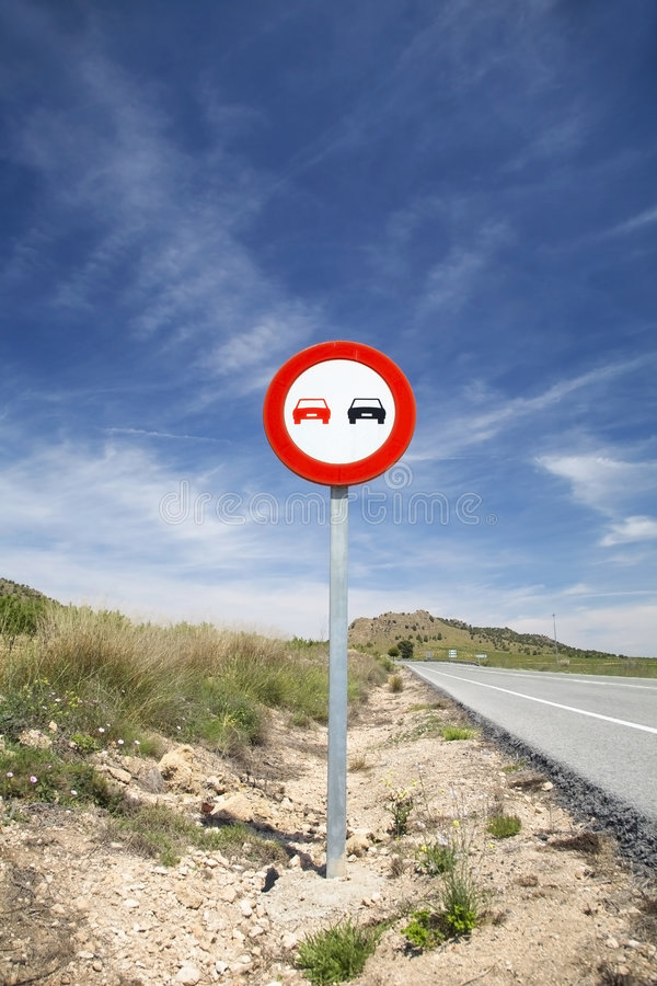 Free Overtake Sign Stock Photos - 5147983