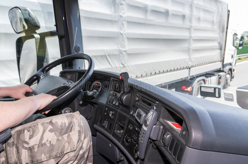 Download Overtaking Of Trucks On The Road Stock Image - Image of depot, traffic: 57560415