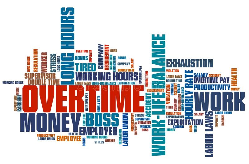 overtime illustration de vecteur