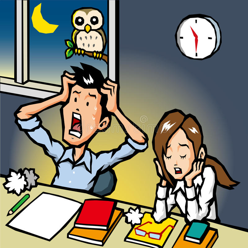 overtime illustration stock