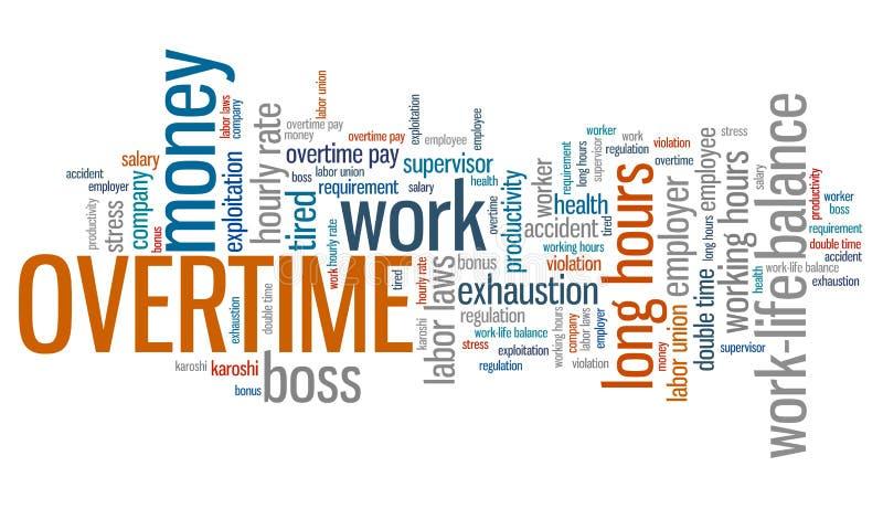 overtime ilustração royalty free