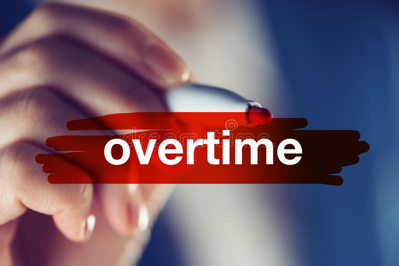 Overtime business concept royalty free stock photos