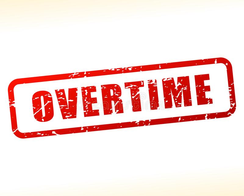 Overtime text buffered vector illustration