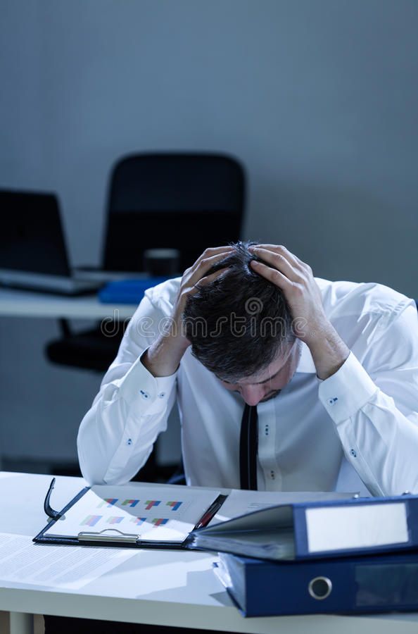 Overtime at work royalty free stock photos