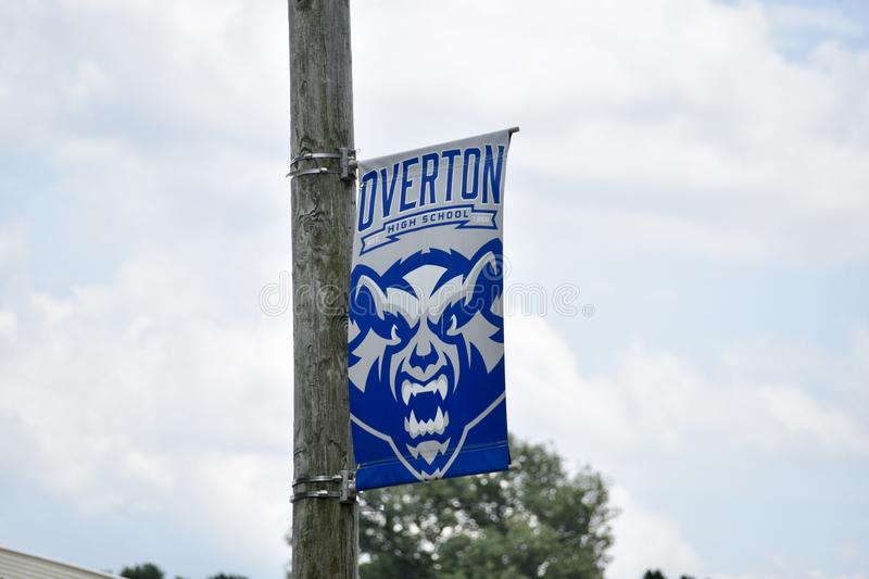 Overton High School Banner, Memphis, TN. Overton High School's graduation rate has increase 6 percentage points from the previous year. Overton` s current royalty free stock photo