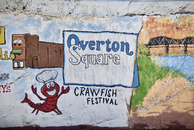 Overton kwadrata ściany sztuka i Freso, Memphis, TN obrazy stock