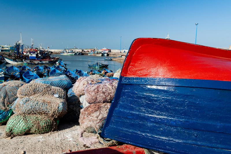 In the port of Essaouira royalty free stock image