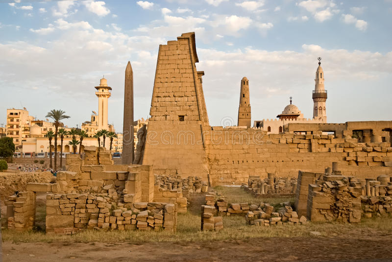 Overvew del tempiale di Luxor immagine stock libera da diritti