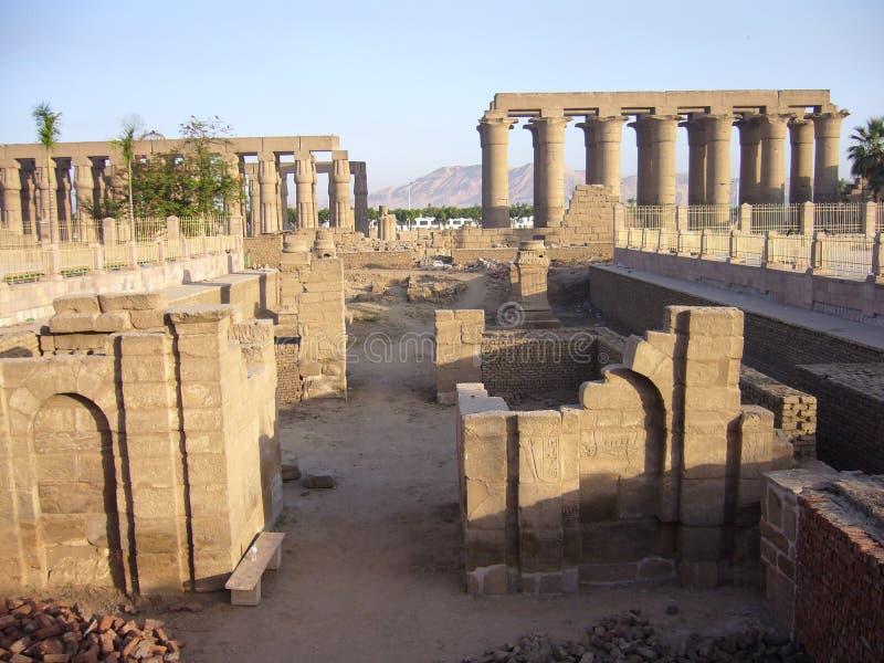 Overvew do templo de Luxor imagens de stock royalty free