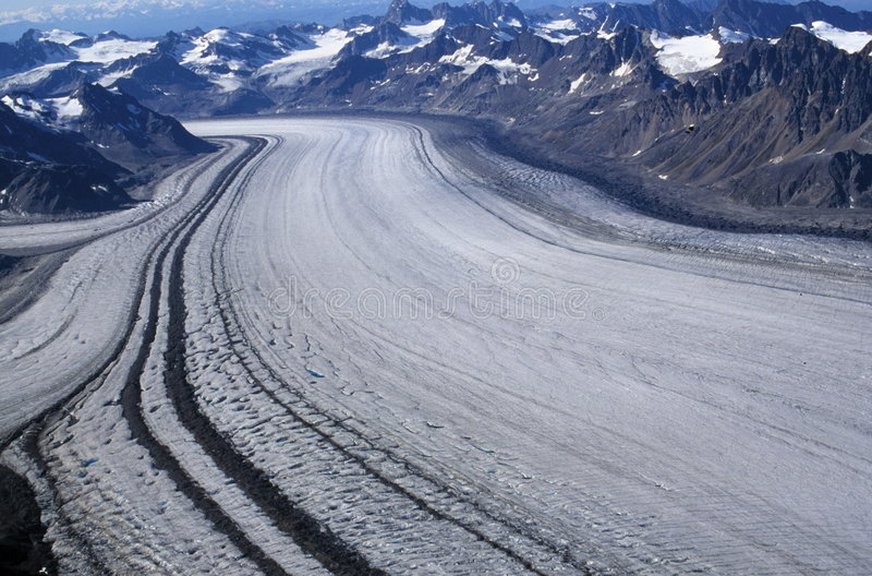 Overview of Alaska Glacier royalty free stock images