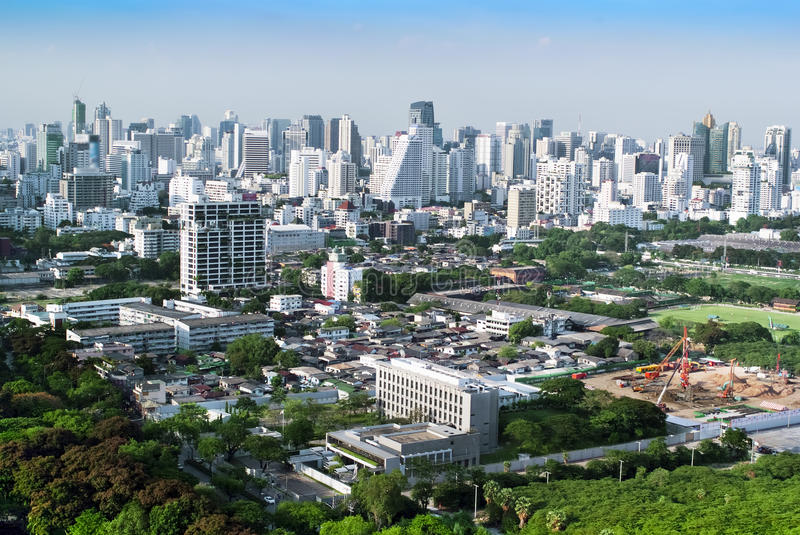 Overview Of A Bangkok S Business And Residential Areas Stock Photo