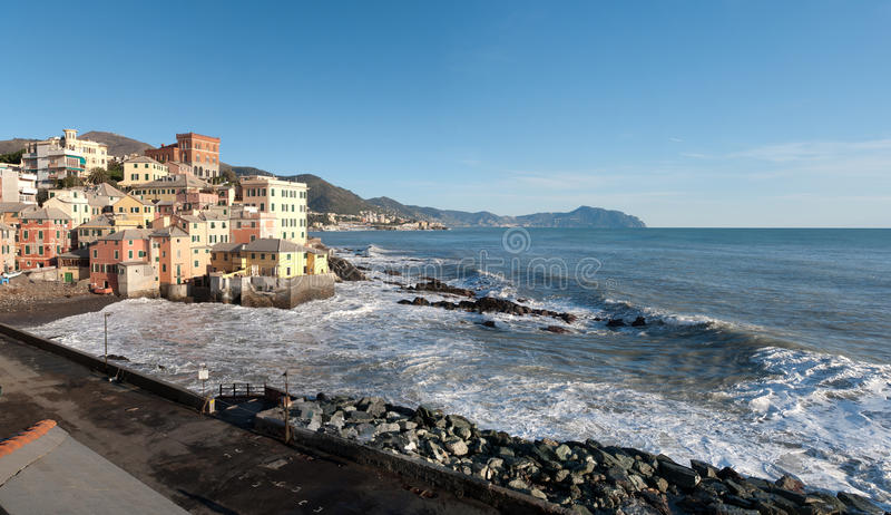 Overview Of Boccadasse Royalty Free Stock Photography