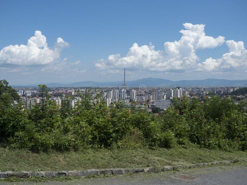 Overview of Brasov, Romania stock photos