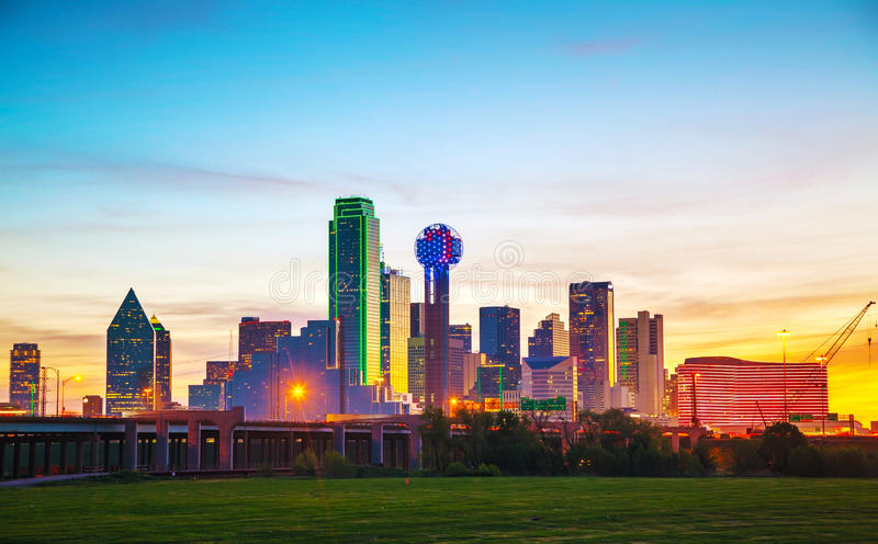 Download Overview Of Downtown Dallas Stock Image - Image of morning, famous: 46571805
