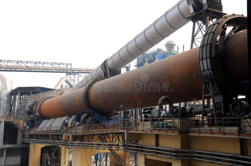 Download Overview Of A Dry-process Rotary Cement Kiln Royalty Free Stock Images - Image: 29512469