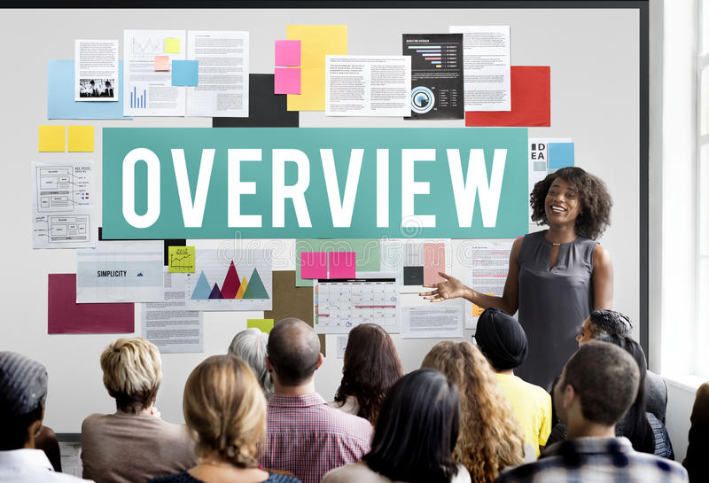 Overview Evaluation Inspection Report Survey Concept stock images