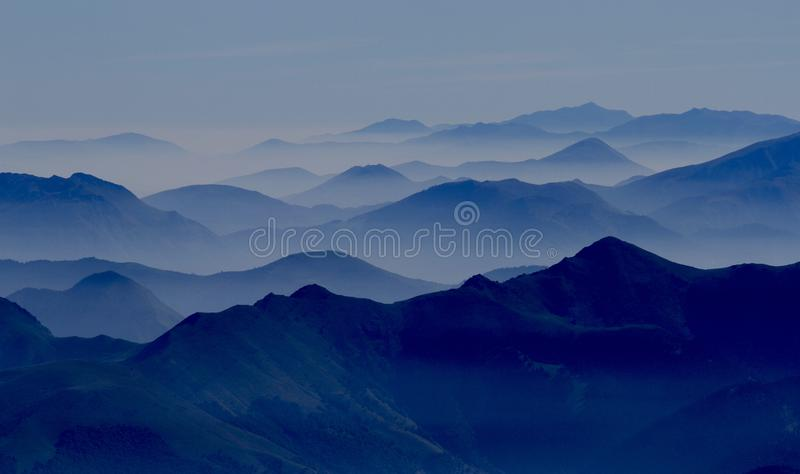 Overview French Alps stock images