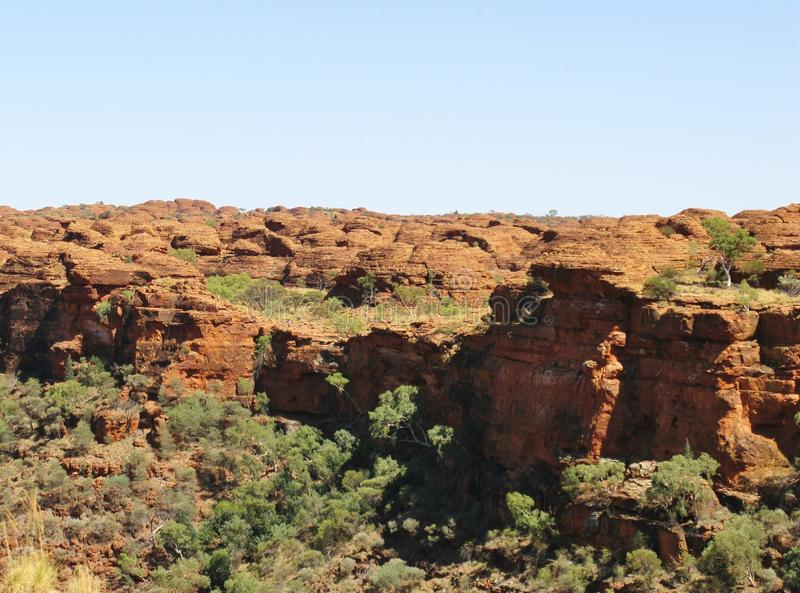 Overview of Kings Canyon. Kings Canyon is part of the Watarrka National Park in Northern Territory in Australia royalty free stock photography
