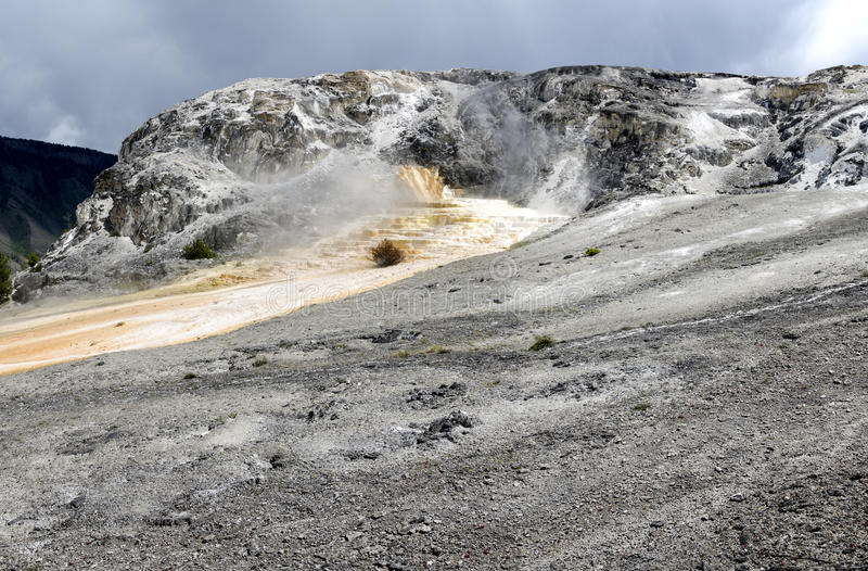 Download Overview Of Mammoth Hot Springs Stock Image - Image: 26377031