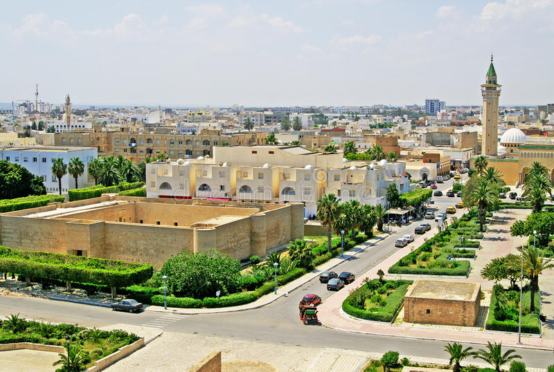 Overview of Monastir from the ribat. Monastir, Tunisia royalty free stock images