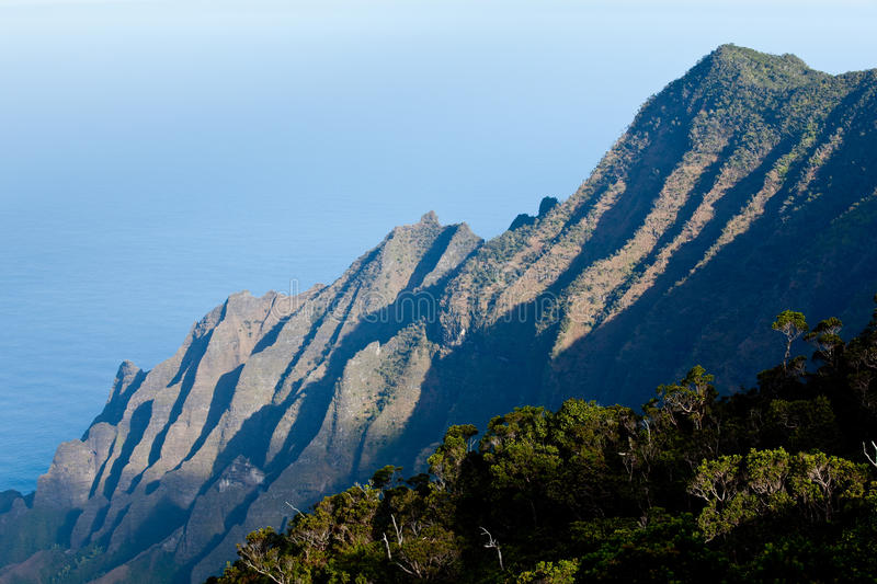 Overview of Na Pali Coast stock image
