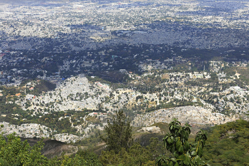Overview of Port-Au-Prince. A high view overlooking the city of Port-Au-Prince, Haiti stock photography