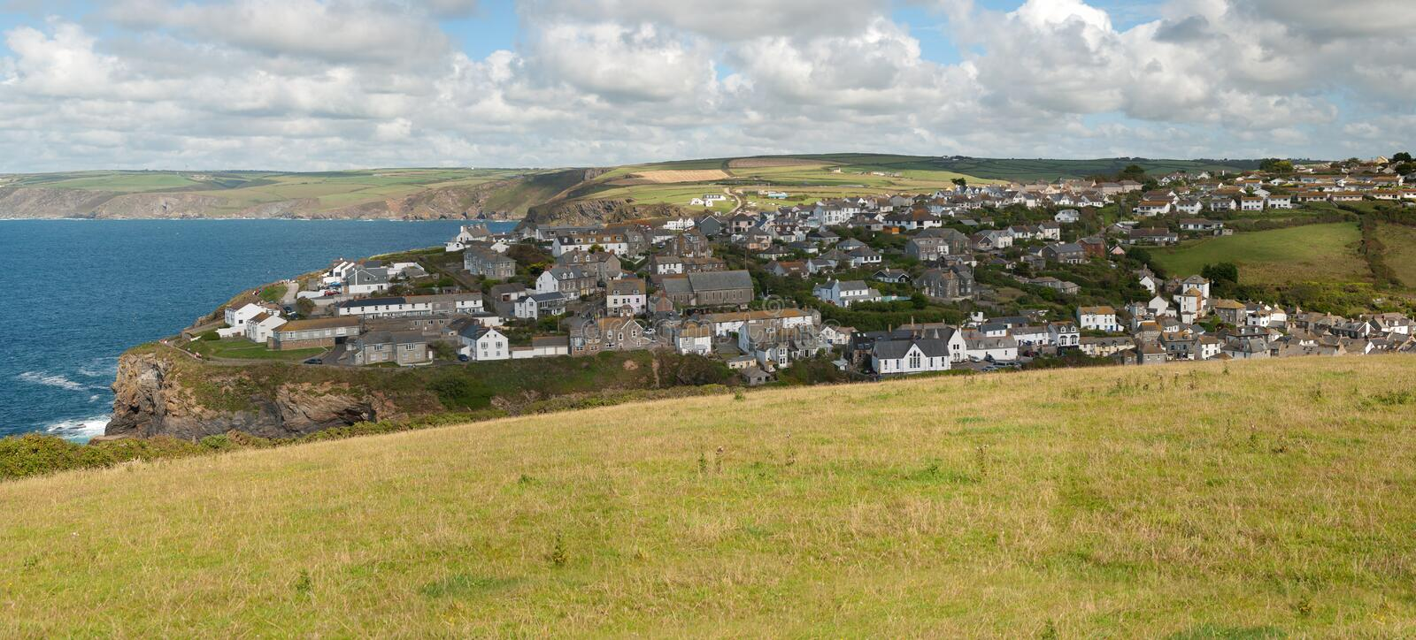 Download Overview of Port Isaac stock image. Image of tourism - 21567947