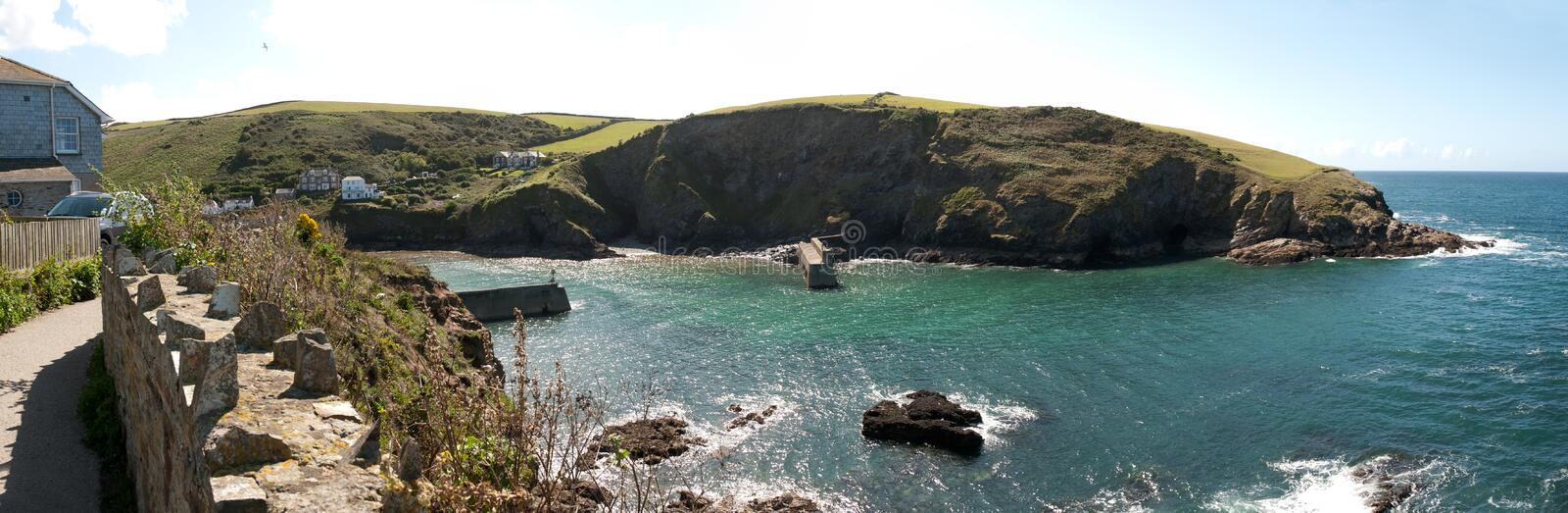 Download Overview of Port Isaac stock photo. Image of light, nature - 23808644