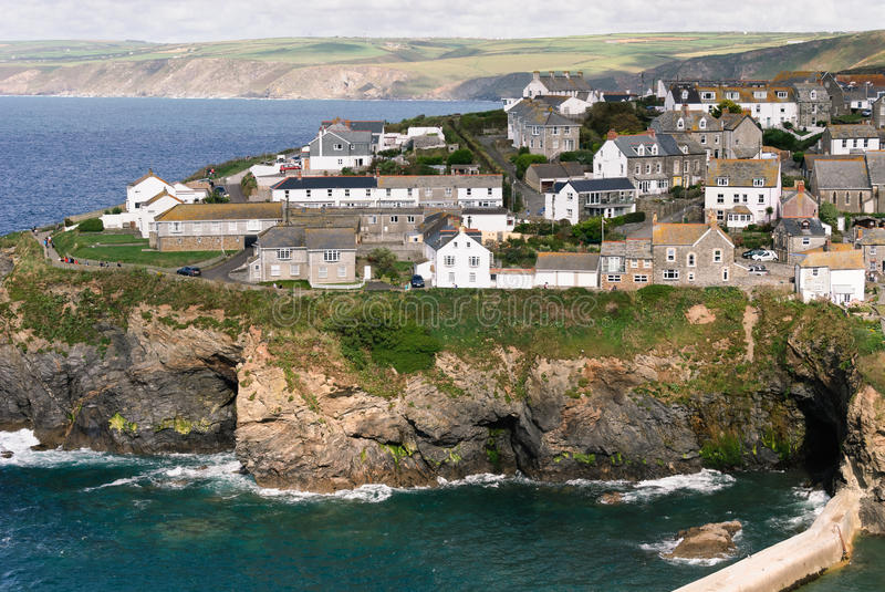 Overview in Port Isaac stock image