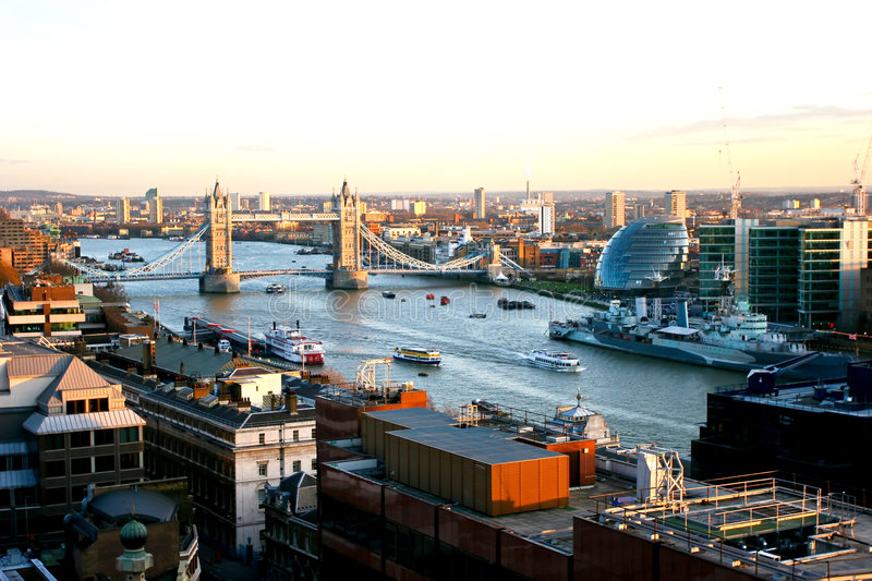 Download Overview of River Thames stock photo. Image of river, ship - 8345726