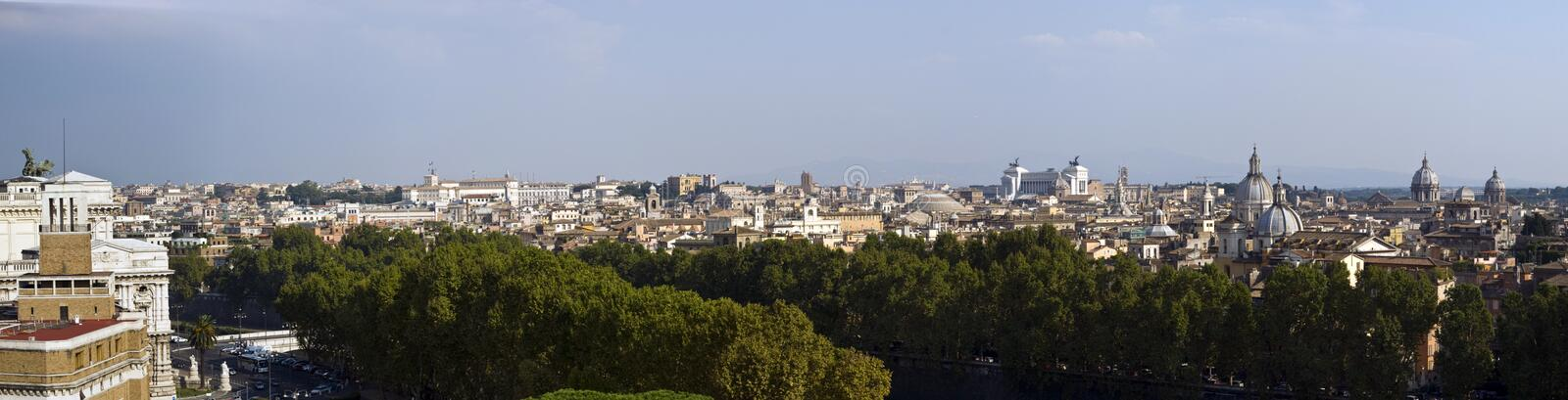 Overview of Rome royalty free stock photo