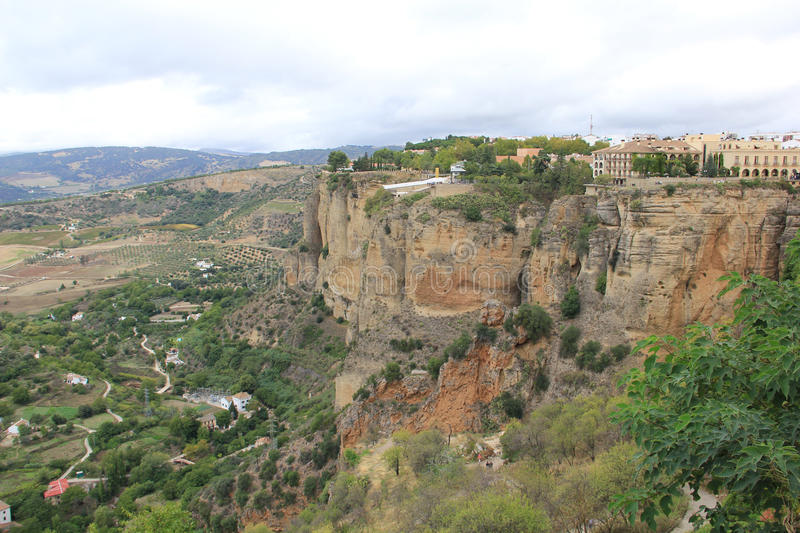 Overview of Ronda, Spain royalty free stock images
