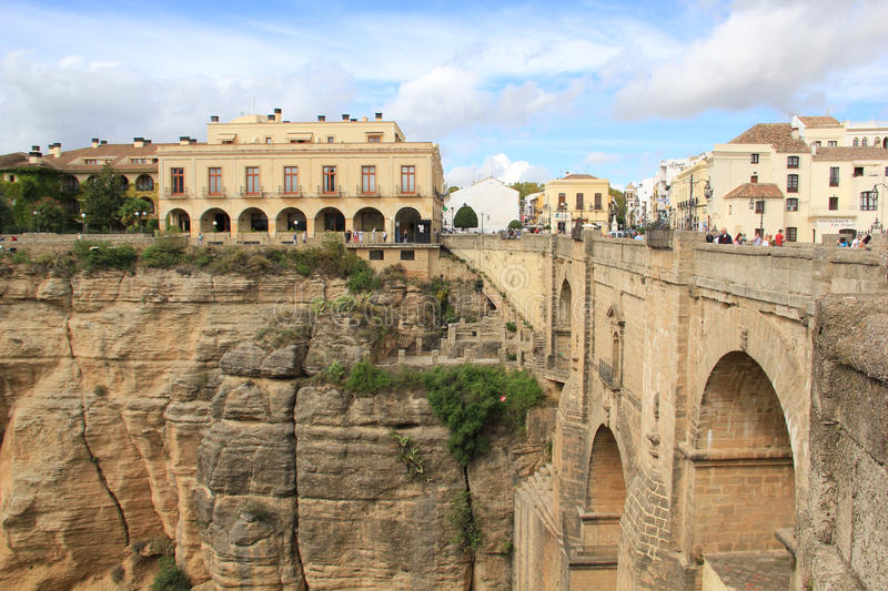 Overview of Ronda, Spain stock photography